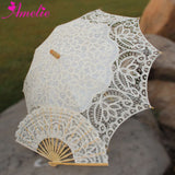Western Style Beautiful Double-Layer Lace Parasol A0104 beige - Go Steampunk