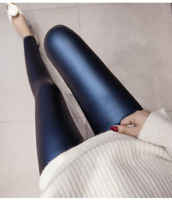 Matte PU Leather Leggings 4 Colors