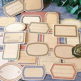 30pcs Vintage Kraft Paper Label Stickers