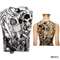Full back, chest, or body temporary tattoo MB 012 - Go Steampunk