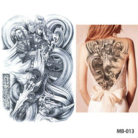 Full back, chest, or body temporary tattoo MB 013 - Go Steampunk