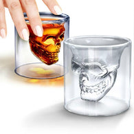 Double Wall Doomed Crystal Skull Shot Glass