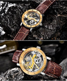 Hollow Automatic Mechanical Skeleton Watch