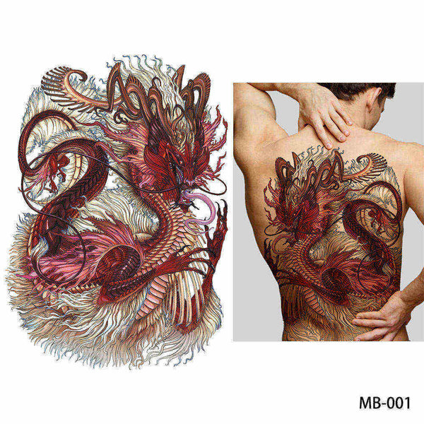 Full back, chest, or body temporary tattoo MB 001 - Go Steampunk