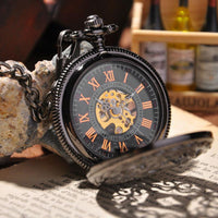 Steampunk Hand Wind Mechanical Skeleton Pocket Watch - Go Steampunk