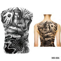 Full back, chest, or body temporary tattoo MB 006 - Go Steampunk