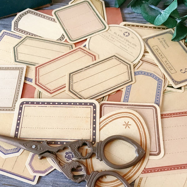 30pcs Vintage Kraft Paper Label Stickers Default Title - Go Steampunk