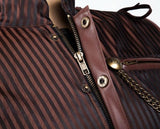 Pin-Striped Men's Steampunk Vest Corset - Go Steampunk