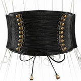 Leather Corset Lacing Belt Girdle