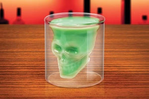 Double Wall Doomed Crystal Skull Shot Glass - Go Steampunk
