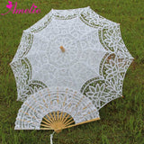 Western Style Beautiful Double-Layer Lace Parasol A0138 white - Go Steampunk
