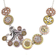 Octopus Gears Vintage Industrial Steampunk Necklace - Go Steampunk