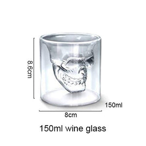 Double Wall Doomed Crystal Skull Shot Glass large - Go Steampunk