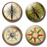 Steampunk Compass Fridge Magnet - Go Steampunk