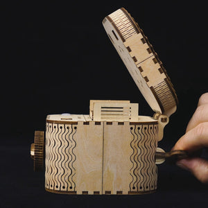Creative DIY Wooden 3D Locking Treasure Box - Go Steampunk
