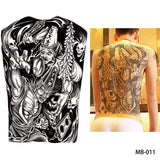 Full back, chest, or body temporary tattoo MB 011 - Go Steampunk