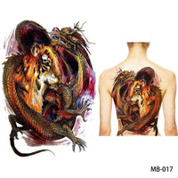 Full back, chest, or body temporary tattoo MB 017 - Go Steampunk