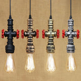 Steampunk Industrial Iron Water Pipe Pendant Lamp