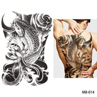 Full back, chest, or body temporary tattoo MB 014 - Go Steampunk