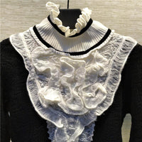 Cashmere and Lace Turtleneck - Go Steampunk