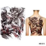 Full back, chest, or body temporary tattoo MB 015 - Go Steampunk