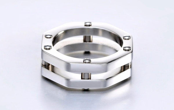 High Quality Double Wall Stainless Steel Ring - Go Steampunk