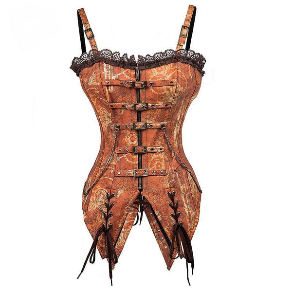 Swallowtail Steel Boned Steampunk Corset