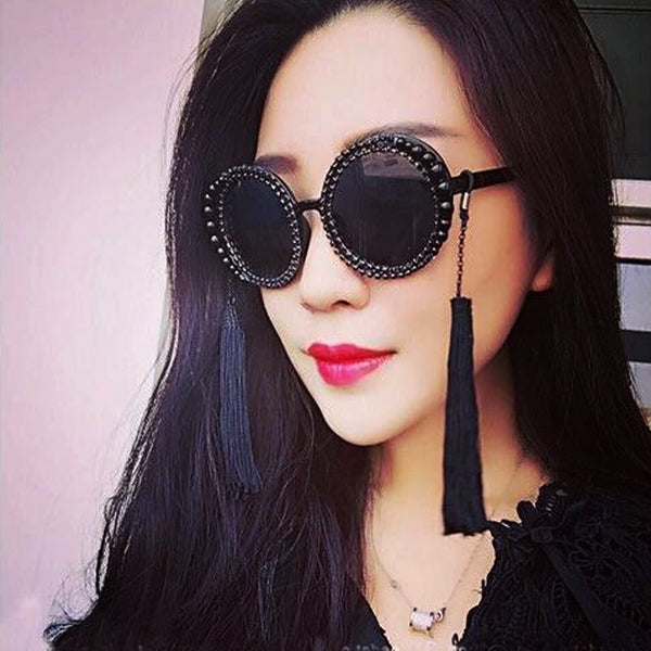 Baroque tassel and pearl sunglasses Default Title - Go Steampunk