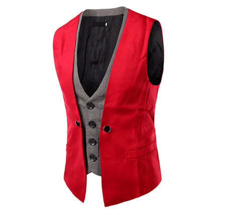 Slim Fit Two Pieces Look Masculino Vest