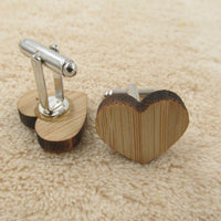 Geometry Wooden Men's Cufflinks - Go Steampunk