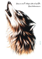 Wolf In Trees Temporary Tattoo LC-573 - Go Steampunk