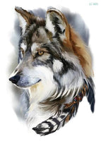 Wolf In Trees Temporary Tattoo LC-605 - Go Steampunk