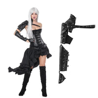 PU Leather Steampunk Armor Sleeve (Black One Size) - Go Steampunk