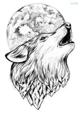 Wolf In Trees Temporary Tattoo LC-612 - Go Steampunk
