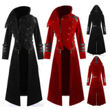 Hooded Buttons and Buckles Detatchable Trench Coat/Jacket - Go Steampunk