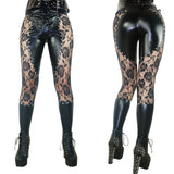Leather And Lace Studded Leggings - Go Steampunk