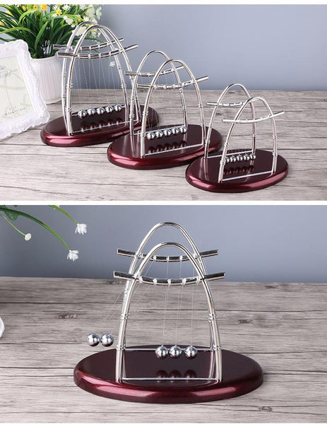 Arched Type Newton Cradle Physics Pendulum