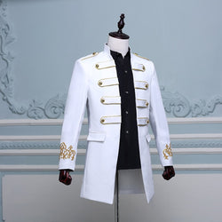 Double-breasted British Military Style Long Slim Fit Jacket - Go Steampunk