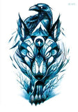 Wolf In Trees Temporary Tattoo LC-571 - Go Steampunk