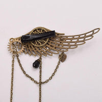 Steampunk Gear Wing Hair Clip - Go Steampunk