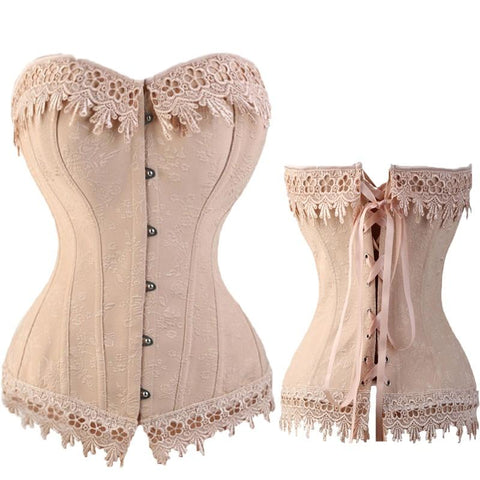 Lace Up Overbust Corset
