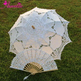 Western Style Beautiful Double-Layer Lace Parasol A0101 white - Go Steampunk