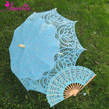 Western Style Beautiful Double-Layer Lace Parasol A0104 turquoise - Go Steampunk