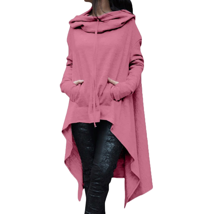 Long Pullover Plus Size Hoodie Pink / 4XL - Go Steampunk