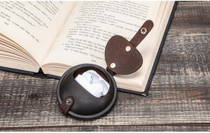 Genuine Leather Round Pocket Case - Go Steampunk