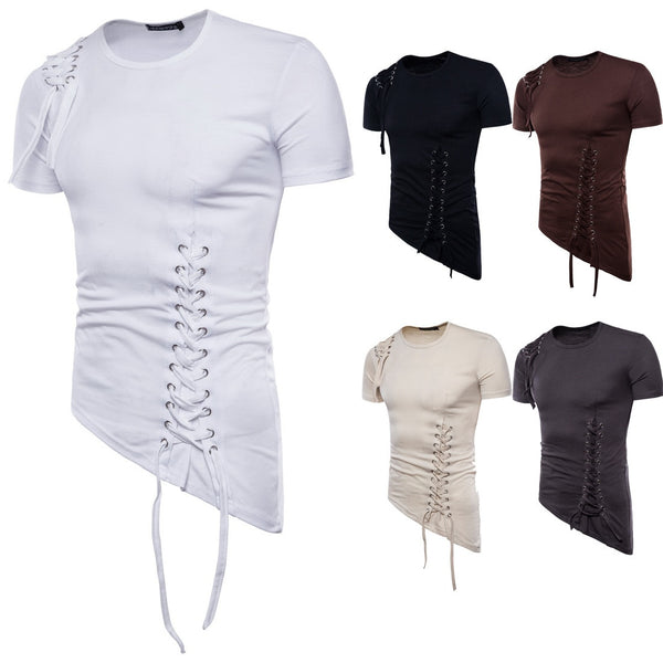 Men's Irregular T- shirt With Ties