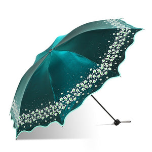 Paradise Full Color Umbrella Green - Go Steampunk