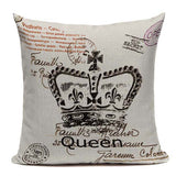 Decorative Crown Pillow Covers 450mm*450mm / 5222 - Go Steampunk