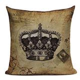 Decorative Crown Pillow Covers 450mm*450mm / 3024 - Go Steampunk