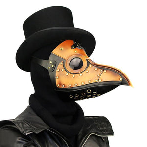 PU Leather Plague Doctor Mask - Go Steampunk